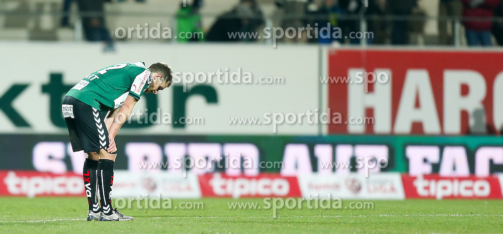 12.03.2016, Keine Sorgen Arena, Ried, AUT, 1. FBL, SV Josko Ried vs SCR Altach, 27. Runde, im Bild Florian Hart (SV Josko Ried) nach dem Spiel // during the Austrian Football Bundesliga 27th Round match between SV Josko Ried and SCR Altach at the Keine Sorgen Arena in Ried, Austria on 2016/03/12. EXPA Pictures © 2016, PhotoCredit: EXPA/ Roland Hackl