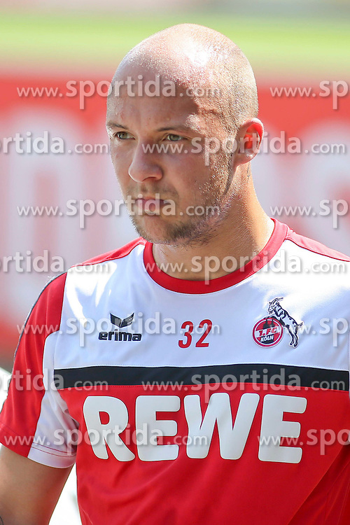 16.07.2015, Geissbockheim, Koeln, GER, 1. FBL, 1. FC Koeln, Training, im Bild Maurice Exslager (1. FC Koeln) // during a practice session of German Bundesliga Club 1. FC Cologne at the Geissbockheim in Koeln, Germany on 2015/07/16. EXPA Pictures &copy; 2015, PhotoCredit: EXPA/ Eibner-Pressefoto/ Schueler<br /> <br /> *****ATTENTION - OUT of GER*****