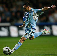 Photo: Steve Bond.<br />Coventry City v West Ham United. Carling Cup. 30/10/2007. Michael Mifsud lines up a shot