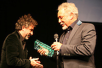 Tim Burton with Sir Tom Jones