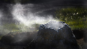 Geothermal activity at Theistareykir in Iceland.