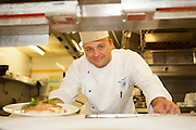 Chef Philippe Daigneaux at the Hilton kitchen