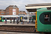 A train at Clapham Junction railway station. The busiest station in Europe.