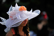May 5, 2012 - Hats at the Kentucky Derby 2012 in Louisville Kentucky. © Jamey Price / Getty Images. IMAGE NOT AVAILABLE FOR SALE.