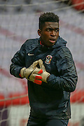 Coventry City goalkeeper Reice Charles-Cook during the Sky Bet League 1 match between Sheffield Utd and Coventry City at Bramall Lane, Sheffield, England on 13 December 2015. Photo by Simon Davies.