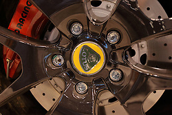 09 February 2017: Lotus wheel badge<br /> <br /> First staged in 1901, the Chicago Auto Show is the largest auto show in North America and has been held more times than any other auto exposition on the continent.  It has been  presented by the Chicago Automobile Trade Association (CATA) since 1935.  It is held at McCormick Place, Chicago Illinois<br /> #CAS17