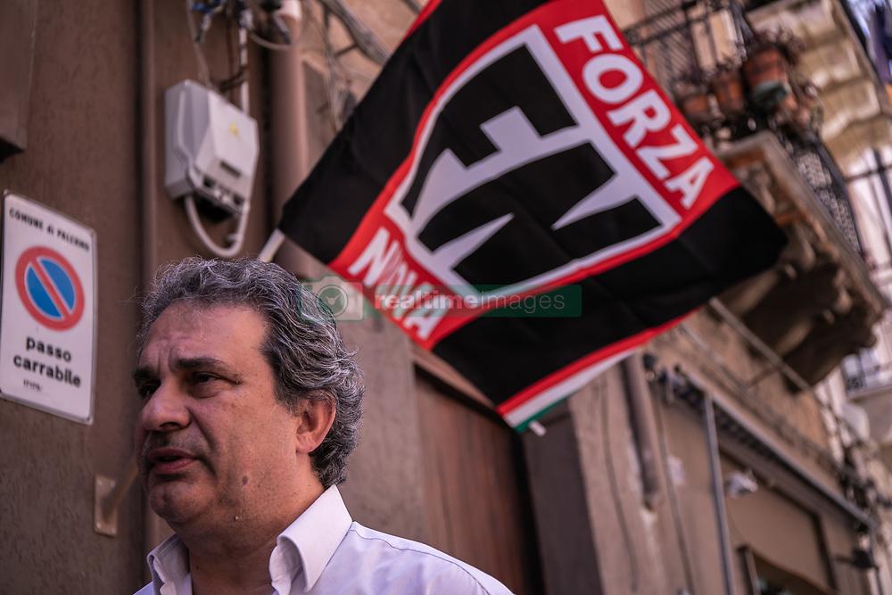 May 24, 2019 - Palermo, Italy - Roberto Fiore, leader of Forza Nuova, in Palermo. (Credit Image: © Antonio Melita/Pacific Press via ZUMA Wire)