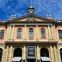 Former Börshuset Now Nobel Museum in Stockholm, Sweden<br /> When the Börshuset building was completed in 1778 on the north side of Stortorget Square, it housed the Swedish Stock Exchange until the Stockholmsbörsen vacated it in 1998.  It is now owned by the Swedish Academy where they conduct their meetings, announce the winner of the Nobel Prize for literature and have their Nobel Museum and Library.