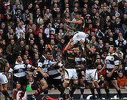Twickenham, GREAT BRITAIN, Ryan KANKOWSKI, distributes the line out ball, during the, Gartmore Challenge -  Barbarians vs South Africa, rugby match at Twickenham Stadium, ENGLAND.  [Mandatory Credit Peter Spurrier/Intersport Images].