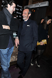 Right WILLIAM GILCHRIST at a party to celebrate the launch of Pomp magazine - a magazine representing London Luxury without the Ceremony focusing on the luxury, fashion and culture of the Capital, hosted by Tom Parker Bowles and the Directors of Pomp Magazine held at The Cuckoo Club, Swallow Street, London on 17th November 2011.