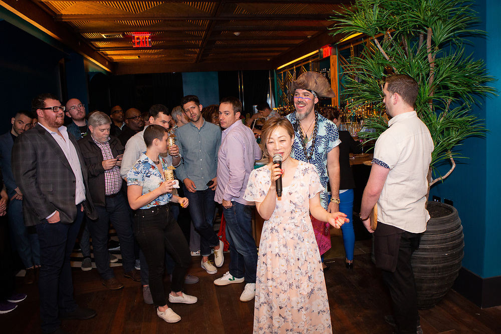 New York, NY - May 23, 2018:  The opening of The Polynesian, a new tiki bar by Major Food Group in The Pod Times Square Hotel.<br /> <br /> CREDIT: Clay Williams.<br /> <br /> © Clay Williams / http://claywilliamsphoto.com