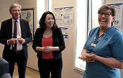 """Scottish Labour leader Richard Leonard and Health spokesperson Monica Lennon met with midwives in NHS Lanarkshire, ahead of a Scottish Labour debate which calls on the SNP Government to invest an additional £10 million for the implementation of Best Start and to investigate claims that midwives are not being given sufficient resources to do their jobs.<br /> <br /> Scottish Labour will use parliamentary time this week to call on the SNP Government to investigate reports that midwives do not have enough resources to do their jobs safely.<br /> <br /> Concerns have been raised in an open letter by midwives in NHS Lothian, which claim they do not have enough computers, equipment and pool cars.<br /> <br /> Scottish Labour have also called for an additional £10 million to be allocated towards the implementation of the Best Start recommendations, to ensure that midwives are given adequate time, training and resources.<br /> <br /> Scottish Labour Health Spokesperson Monica Lennon said:<br /> <br /> """"Midwives play a crucial role in caring for women and babies. The best way of recognising their contribution to our NHS is by making sure they have enough resources to do their jobs safely.<br /> <br /> """"That's why Scottish Labour is calling on the SNP Government to investigate reports about a lack of equipment and resources, and to provide an additional £10 million towards the implementation of the Best Start recommendations.<br /> <br /> """"The Health Secretary must listen to the concerns of midwives and take urgent action to address the workforce crisis.""""<br /> <br /> Pictured: Richard Leonard and Monica Lennon chat to Lorna Lennox (Quality Improvement Midwife)<br /> <br /> Alex Todd 