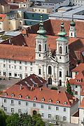 Kloster der Minoriten, Mariahilferkirche, UNESCO Welterbestätte Stadt Graz – Historisches Zentrum, Steiermark, Österreich |  Convent of the Friars Minor, Mariahilferkirche, view from the Schlossberg in the historic center, a UNESCO World Heritage Site city of Graz - Historic Centre, Steiermark, Austria