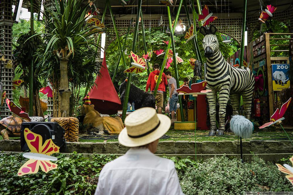 Antwerp, Belgium, 20 july 2013, Zoo celebrates 170 yrs of existance with Belle Epoque picnic. Photo © Christophe Vander Eecken
