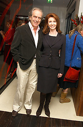 Actress JANE ASHER and her husband MR GERALD SCARFE at a party to celebrate the opening of Maze - a new Gordon Ramsay restaurant at 10-13 Grosvenor Square, London W1 on 24th May 2005.<br />