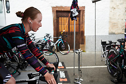 Alice Barnes (GBR) warms up for Emakumeen Bira 2018 - Stage 2, a 26.6 km time trial from Agurain to Gasteiz, Spain on May 20, 2018. Photo by Sean Robinson/Velofocus.com