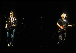 The Grateful Dead perfoming Picasso Moon at the Nassau Coliseum, Uniondale NY, 30 March 1990. Bob Weir and Jerry Garcia singing.