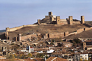 Castle on the hill above Molina de Aragon, Spain.