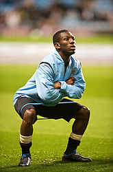 BIRMINGHAM, ENGLAND - Monday, October 5, 2009: Manchester City's Shaun Wright-Phillips before the Premiership match against Aston Villa at Villa Park. (Pic by David Rawcliffe/Propaganda)