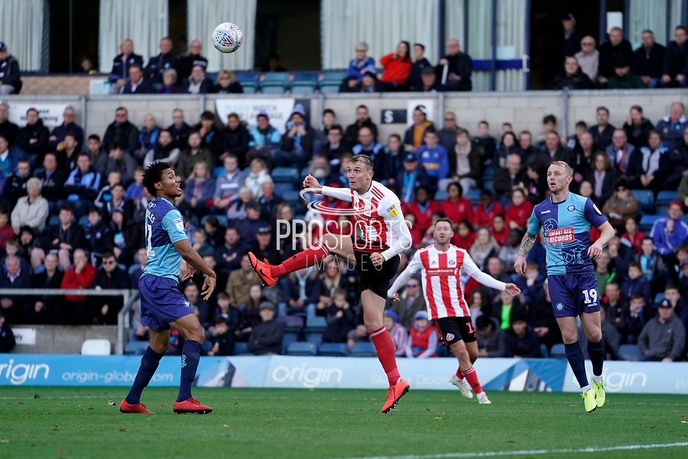 Charlie Wyke of Sunderland in action during the EFL Sky Bet League 1 match between Wycombe Wanderers and Sunderland at Adams Park, High Wycombe, England on 19 October 2019.