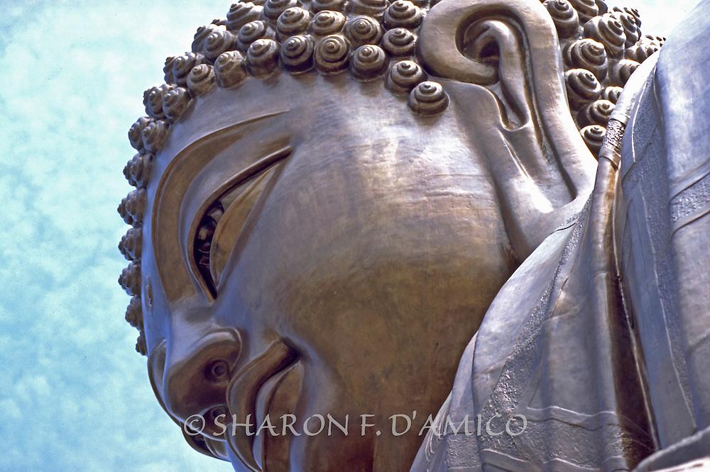 "Detail of the Bronze ""Sitting Buddha"", Po Lin Monastery"