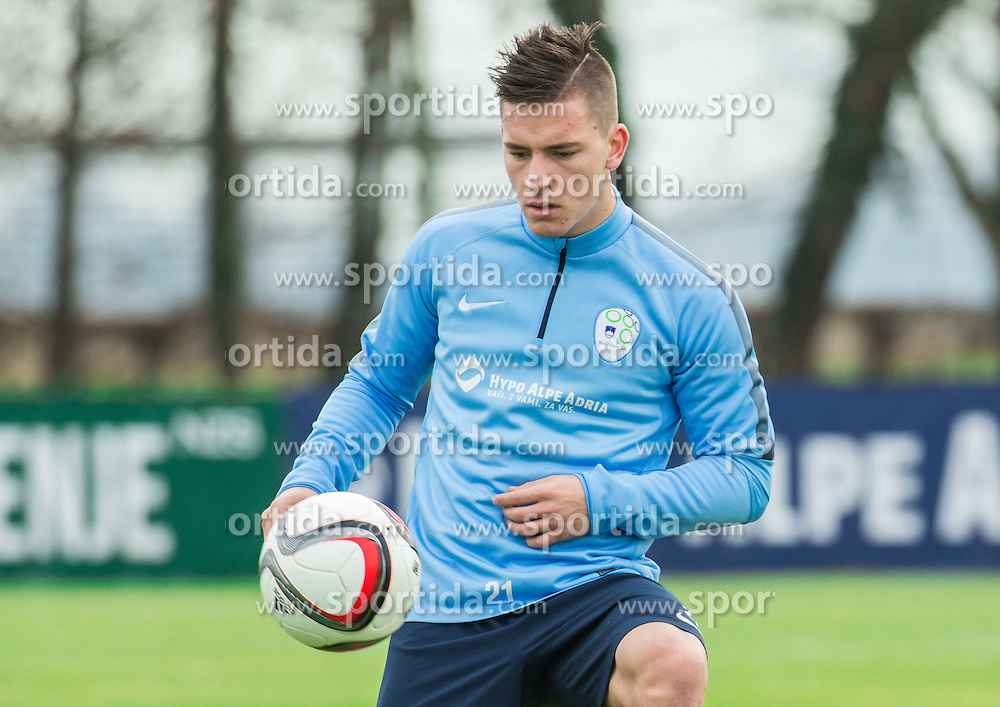Benjamin Verbic during practice session of Slovenian Football Team before Euro 2016 Qualifying match against Ukraine, on November 10, 2015 in Football centre Brdo pri Kranju, Slovenia. Photo by Vid Ponikvar / Sportida
