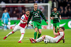 21-01-2018 NED: AFC Ajax - Feyenoord, Amsterdam<br /> Ajax was met 2-0 te sterk voor Feyenoord / Hakim Ziyech #10 of AFC Ajax, Nicolai Jorgensen #9 of Feyenoord