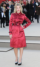 FEB 18 2013 Celebrities at the Burberry Prorsum show at LFW A/W 13