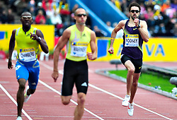 Great Britain's Martyn Rooney competes in the men's 400m final during the Samsung Diamond League meeting at Crystal Palace in London on August 14, 2010.