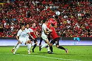 NONTHABURI, THAILAND - JULY 09: Siroch of SCG Muangthong in action during the second half of the Thai League: SCG Muangthong United vs Buriram United at SCG Stadium, Nonthaburi, Thailand on July 09, 2017.<br /> .<br /> .<br /> .<br /> (Photo by: Naratip Golf Srisupab/SEALs Sports Images)<br /> .<br /> Any image use must include a mandatory credit line adjacent to the content which should read: Naratip Golf Srisupab/SEALs Sports Images