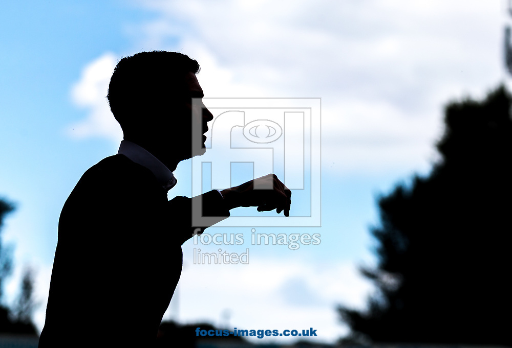 Silhoutte of Harry Kewell head coach of Crawley Town during the Sky Bet League 2 match at  Checkatrade.com Stadium, Crawley<br /> Picture by Liam McAvoy/Focus Images Ltd 07413 543156<br /> 05/08/2017