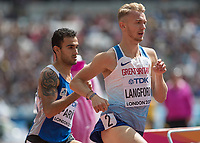 Athletics - 2017 IAAF London World Athletics Championships - Day Two (AM Session)<br /> <br /> Event: Mens 800m - Round 2<br /> <br /> Kyle Langford (GBR) <br /> <br /> <br /> COLORSPORT/DANIEL BEARHAM
