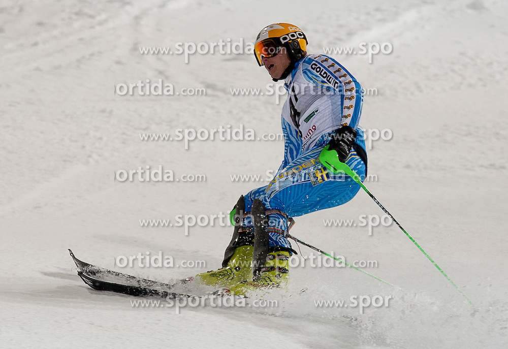 24.01.2012, Planai, Schladming, AUT, FIS Weltcup Ski Alpin, Herren, Slalom 2. Durchgang, im Bild Jens Byggmark (SWE) // Jens Byggmark of Sweden during the second run of the FIS Alpine Skiing World Cup mens slalom race, Schladming, Austria on 2012/01/24. EXPA Pictures © 2012, PhotoCredit: EXPA/ Erwin Scheriau
