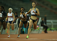 JOHANNESBURG, SOUTH AFRICA - MARCH 22: Alyssa Conley wins the women's 100m during the ASA Speed Series 4 at Germiston Stadium on March 22, 2017 in Johannesburg, South Africa. (Photo by Roger Sedres/ImageSA)