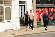 EXCLUSIVE<br /> Gogglebox star George Gilbey and his Girlfiend Gemma who are due there baby today pictured out in Twickenham waiting for the new edition to there Gogglebox family.<br /> ©Exclusivepix Media