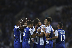 October 21, 2017 - Porto, Porto, Portugal - Porto's Brazilian defender Felipe (C) celebrates after scoring goal with teammates during the Premier League 2017/18 match between FC Porto and FC Pacos de Ferreira, at Dragao Stadium in Porto on October 21, 2017. (Credit Image: © Dpi/NurPhoto via ZUMA Press)