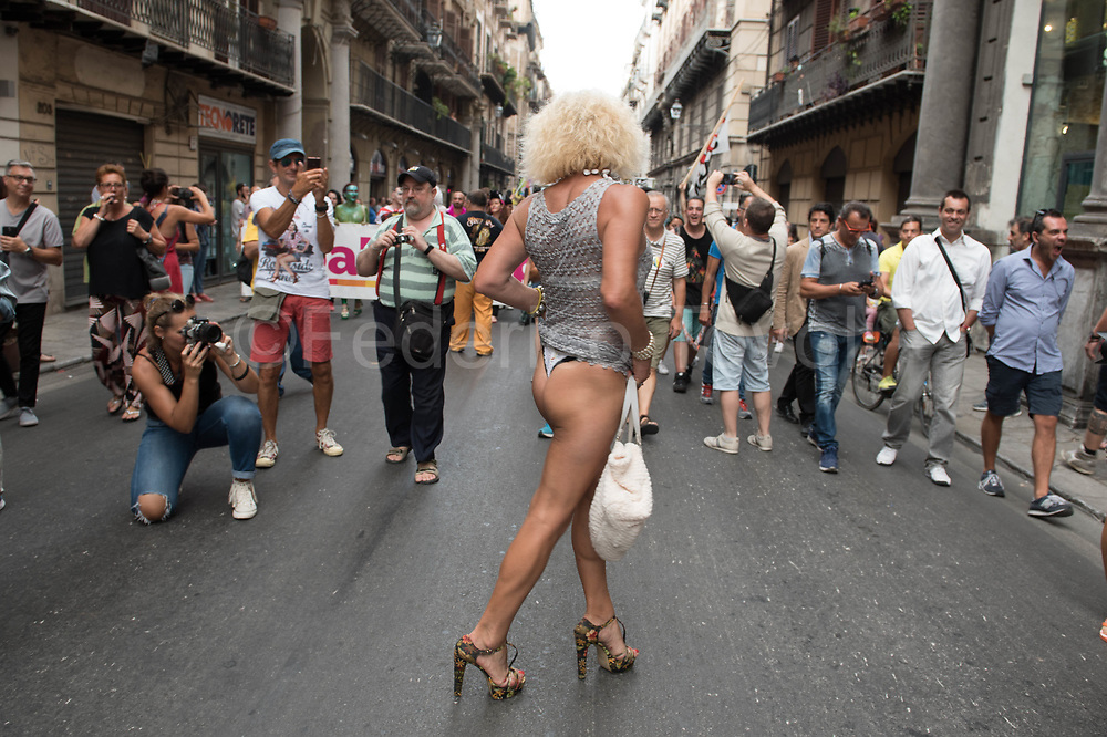 From Palermo pride, the big one gay pride in the Mediterranean area