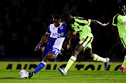 Victor Adeboyejo of Bristol Rovers has a shot on goal  - Mandatory by-line: Ryan Hiscott/JMP - 22/10/2019 - FOOTBALL - Memorial Stadium - Bristol, England - Bristol Rovers v Bolton Wanderers - Sky Bet League One