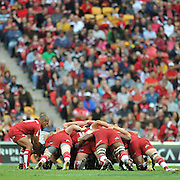 Will Genia feeds the scrum in front of a packed Suncorp Stadium ~ Super 15 rugby (Round 15) - Reds v Crusaders played at Suncorp Stadium, Brisbane, Australia on Sunday 29th May 2011 ~ Photo : Steven Hight (AURA Images) / Photosport