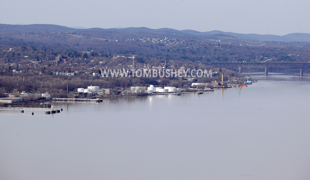 Cornwall, New York - A view of the Hudson River and the Newburgh waterfront from Storm King Mountain State Park on March 27, 2010. The Newburgh Beacon Bridge is on the right.