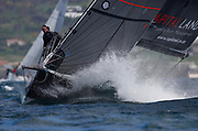Yachts race during the False Bay Yacht Club Spring Regatta series off Simonstown in Cape Town, South Africa 16 September 2017. The False Bay Yacht Club Spring Regatta sees South Africa's premier racing yachts from various clubs in the Cape competing over three days in the annual regatta at the change of seasons with good conditions for racing in False Bay.