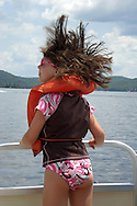 A beautiful day, out on a boat, hair blowing in the wind, what more could you want.