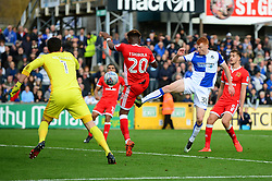 Rory Gaffney of Bristol Rovers takes a shot at goal  - Mandatory by-line: Dougie Allward/JMP - 28/10/2017 - FOOTBALL - Memorial Stadium - Bristol, England - Bristol Rovers v Milton Keynes Dons - Sky Bet League One