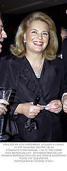 PRINCESS IRA VON FURSTENBERG  at a party in London on 27th November 2002.<br />