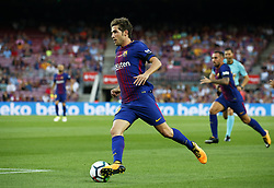 August 20, 2017 - Barcelona, Catalonia, Spain - Sergi Roberto during La Liga match between F.C. Barcelona v Real Betis Balompie, in Barcelona, on August 20, 2017. hoto: Joan Valls/Urbanandsport/Nurphoto  (Credit Image: © Joan Valls/NurPhoto via ZUMA Press)
