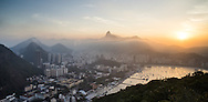 A panoramic view of Botafogo, Rio de Janeiro, from Morro da Urca.  Scenes from Rio de Janeiro on the day that Brazil drew 0-0 with Mexico. Photo by Andrew Tobin/Tobinators Ltd