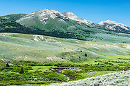 Upper Ruby River Valley and the Snowcrest Range south of Alder Montana