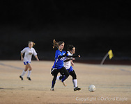 Oxford High's Maia Cotello vs. Saltillo in girls playoff soccer on Monday, February 1, 2010 in Oxford, Miss.