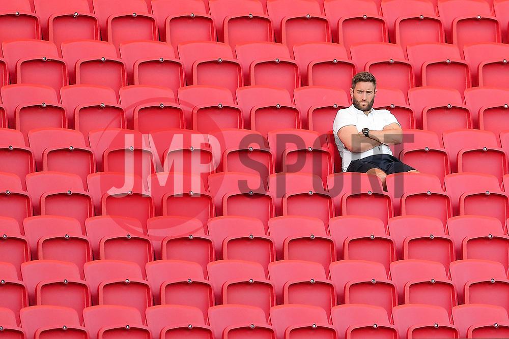 Bristol City manager Lee Johnson looks on from the stands - Rogan Thomson/JMP - 30/08/2016 - FOOTBALL - Ashton Gate Stadium - Bristol, England - Bristol City U23 v Crystal Palace U23 - U23 Professional Development League 2 (South Division).