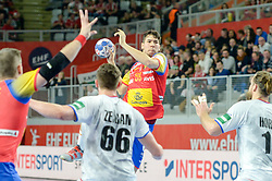 DUJSHEBAEV Daniel of Spain during handball match between National teams of Spain and Czech Republic on Day 2 in Preliminary Round of Men's EHF EURO 2018, on Januar 13, 2018 in Skolsko Sportska Dvorana, Varazdin, Croatia. Photo by Mario Horvat / Sportida
